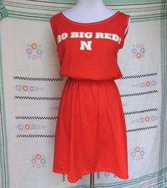 University of Nebraska Cornhuskers Red Game Day T Shirt Tee Dress