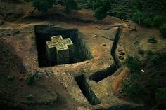 Bet Giyorgis church in Lalibla, Ethiopia (photo by George Steinmetz)