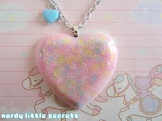 Fairy Kei Pastel Star Heart Necklace by NerdyLittleSecrets on Etsy, $13.00