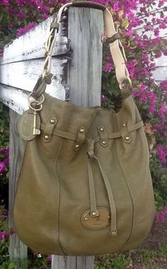 Fossil Long Live Vintage Satchel Shoulder Bag Olive Green Pebble Leather GUC! in Clothing, Shoes & Accessories, Women's Handbags & Bags, Handbags & Purses | eBay