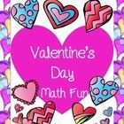 This free Valentine's Day math fun includes practice pages for keeping students busy and reviewing math skills in valentine's day.  ...