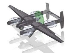 Latitude Engineering's Hybrid Quadcopter UAS has the extended air endurance of a Predator but can take off like helicopter from the back of a frigate. The gas-powered production model is expected to fly for 12 to 15 hours while carrying a 2.3-pound TASE200 electro-optical infrared camera.