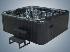 Multiple Gold Award Winning Hot Tubs For Sale UK at Hot Tub Suppliers. Balboa approved & BISHTA affiliated offering the best hot tub service, sales & support. Hot Tub Service, Tubs For Sale, Wooden Steps, Waterfall Fountain, Sale Uk, Hot Tubs, Emperor, Jets, Spa