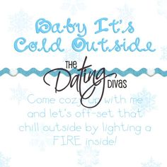 Date Night In ~ Baby, It's Cold Outside Date ~ This one looks super fun! snowflake decorations, fire in fireplace, Christmas movie, Hot Cocoa...etc