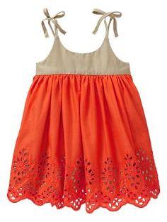 Eyelet colorblock dress | Gap OMG