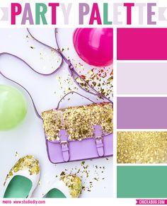 Party Palette: Glitter-dipped accessories