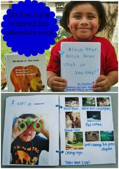Eric Carle inspired Adventure Book #kids #activity @gummylump