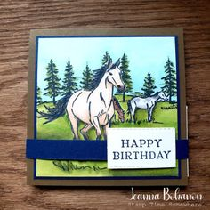 Showcasing the Stampin' Up! Blends Markers on this month's Creation Station Blog Hop with Stampin' Up!'s gorgeous Let It Ride stamp set. See the fun inside of this card and shop for products on my blog post!