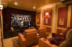 35 Modern Media Room Designs That Will Blow You Away  Small space living room/ media room
