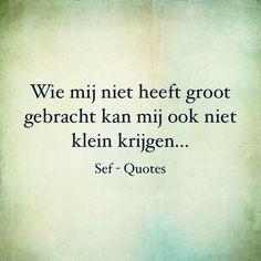 Echt niet...thank God! Sef Quotes, Dutch Quotes, Karma, Slogan, Texts, Qoutes, Tattoo Quotes, Love Quotes, Encouragement