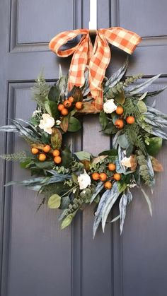Diy Fall Wreath, Holiday Wreaths, Rose Gold Christmas Decorations, Thanksgiving Wreaths, Rustic Thanksgiving, Autumn Decorating, Berry Wreath, Fall Home Decor, Wreaths For Front Door