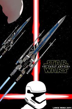 Star Wars Episode 7 The Force Awakens Fan Poster by DustyFloors
