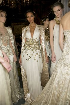 Studded Hearts Zuhair Murad Couture Spring 2013 Backstage 12