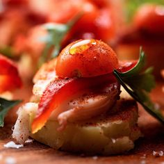This salad is a riff on a traditional Spanish dish, pulpo a la gallega, a favorite item on tapas bar menus all over the country. It is essentially boiled octopus and potatoes, sliced and served with a good drizzle of olive oil and a dusting of smoky pimentón. This version uses #lobster instead, and adds strips of roasted pepper and cherry tomatoes. @david_tanis's #NYTCooking recipe and his new story are through our profile link. (Photo: @karstenmoran)