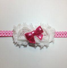 Baby Headband Pink Headband Shabby Headband by WeAreCutieCouture, $8.50