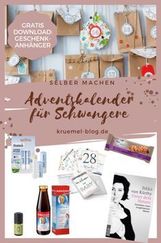 Advent calendar for pregnant women - gift idea for pregnant girlfriend What small and large gifts can you put on an advent calendar for a pregnant friend? What small gifts can you Birthday Gifts For Boyfriend, Boyfriend Gifts, Valentine Day Gifts, Gifts For Pregnant Women, Gifts For Women, Cute Gifts, Diy Gifts, Make An Advent Calendar, Gratis Download