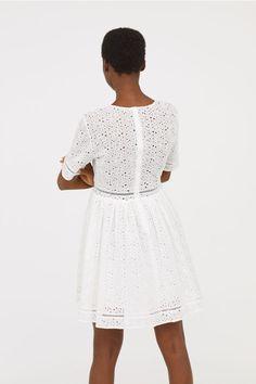 Vyšívané šaty - Bílá - ŽENY | H&M CZ 3