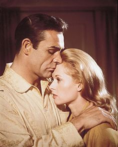 """Marnie (1964) Sean Connery (Mark Rutland) and Tippi Hedren (Margaret """"Marnie"""" Edgar). Marnie is a compulsive thief and upon setting her sights on stealing from another employer, Mark Rutland, she is blackmailed into marrying him or he would reveal her previous crimes. She is repressed and he is obsessed with her apparent psychological behavior that he learns began in her childhood. Hitchcock explores the psychological thriller with sexual undertones."""