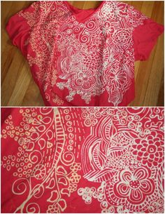 How to embellish garments using a bleach pen