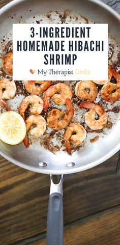Homemade hibachi shrimp in 15 minutes or less! This recipe has all the secrets for making shrimp at home that tastes just like restaurant hibachi shrimp. Use tamari instead of soy sauce to make this one of your new favorite gluten free shrimp recipes! This cooks quickly and is a great weeknight dinner that kids and families will ove. Post includes a recipe for homemade shrimp white sauce. Cooked Shrimp Recipes, Shrimp Recipes For Dinner, Gluten Free Recipes For Dinner, Best Dinner Recipes, Seafood Recipes, Easy Healthy Meal Prep, Healthy Meals For Two, Healthy Dinner Recipes, Healthy Eating