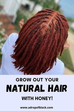 Did you know honey can help you grow out your hair? Well now you know. Learn how to use honey for natural black hair growth and length retention. #lengthretention #naturalhairgoals #healthyhair #4chair How To Grow Your Hair Faster, How To Grow Natural Hair, Natural Hair Tips, Natural Hair Growth, Natural Hair Styles, Healthy Relaxed Hair, Black Hair Growth, Hydrate Hair, Hair Remedies For Growth