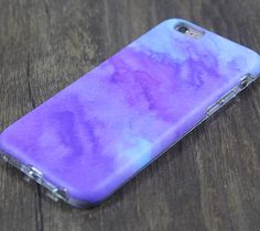 Abstract Watercolor Purple Tough Protective iPhone 6s Case iPhone 6 plus S7 Edge SE Snap Case 3D 206
