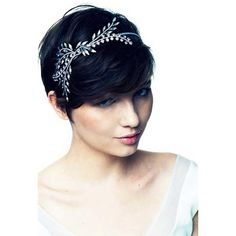 30 Best Pixie Wedding Hair ❤ liked on Polyvore featuring accessories, hair accessories, bride hair accessories and bridal hair accessories