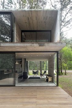 Compact Summer Home Hidden In The Argentinian Forest #ContainerHomeDesigns