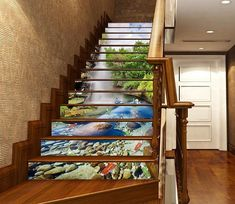 Traditional Interior Design Ideas For A Beautiful Home Best Interior Design Websites, Interior Design Companies, Stair Art, Marble Stairs, Door Murals, Photo Mural, Stair Risers, Luxury Homes Interior, Bathroom Interior Design
