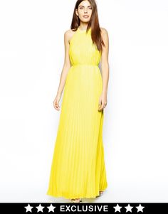 Ted Baker Exclusive to Asos Maxi Dress with Lace Panel
