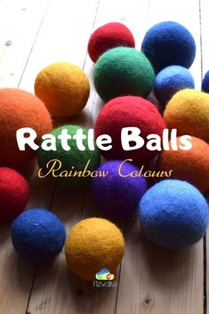 Colourful Toddler Rattles made of natural sheep wool for toddlers to enjoy! Click through for more! Toddler Gifts, Toddler Toys, Toddler Sense, Mermaid Wall Decor, Educational Toys For Toddlers, Felt Pictures, Ball Birthday, Natural Toys, Sensory Toys