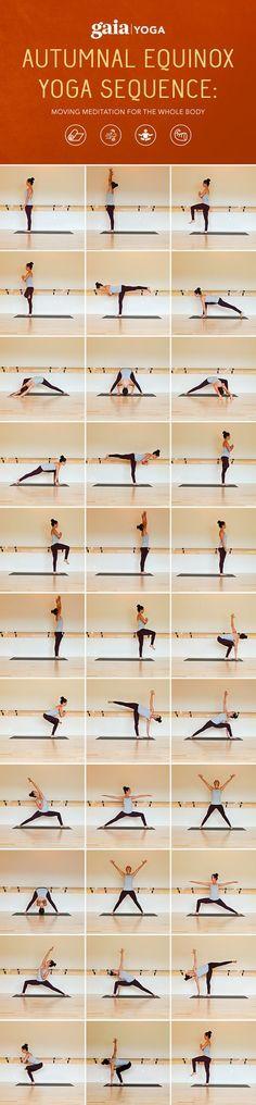 Autumnal Equinox Yoga Sequence: Moving Meditation for the Whole Body. Autumnal Equinox Yoga Sequence: Moving Meditation for the Whole Body. Yoga Pilates, Yoga Bewegungen, Sup Yoga, Yoga Moves, Yoga Exercises, Yoga Bag, Vinyasa Yoga, Yoga Pants, Yoga Flow