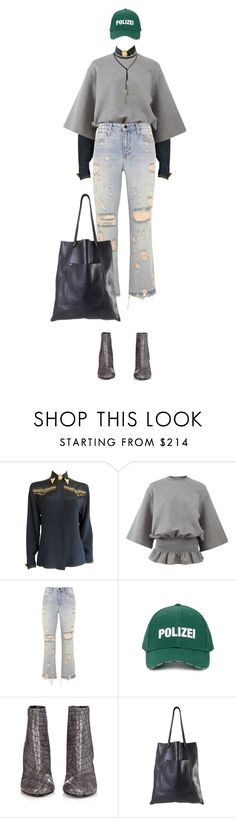 """""""The End of The Road"""" by meddyanka ❤ liked on Polyvore featuring Versace, STELLA McCARTNEY, Alexander Wang and Vetements"""