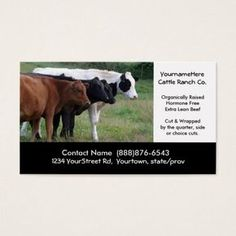 Three amigos beef cattle business cards butcher business cards beef cattle farming or butchering business card colourmoves
