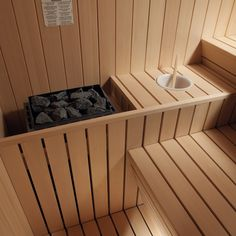 The Gym sauna for hotels, gyms, fitness centres and wellness spas. Home Spa Room, Spa Rooms, Sauna Steam Room, Sauna Room, Saunas, Design Sauna, Sauna Hammam, Sauna House, Outdoor Sauna