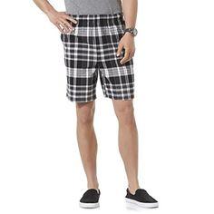 Men's Cycling Socks - Basic Editions Mens Elastic Waist Shorts  Plaid ** Visit the image link more details.
