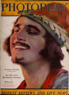 Photoplay - 1923 - Portada: retrato de Douglas Fairbanks por John Knowles Hare