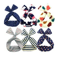 Twist Bow Wired Headbands Scarf Wrap Hair Accessory Hairband by Sea Team(6 Packs) >>> You can find more details by visiting the image link.