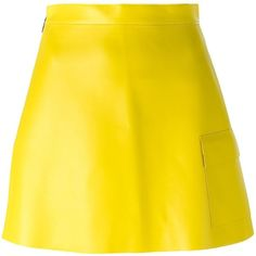 MSGM Patch Pocket Faux Leather Skirt