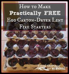 Here's a fire starter that's easy to make from materials you probably already have floating around your house. These little balls of fire will burn for approximately 15 minutes after...