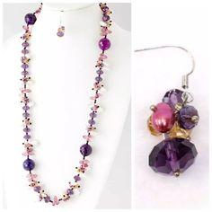 Ed32 Handmade Austrian Crystal Abalone Necklace