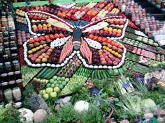 vegetable+display+art | Funny Artful Vegetables Displays | Modern Art, Design Ideas