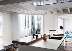 A Modern Duplex in Paris With Bohemian Flair via @MyDomaine