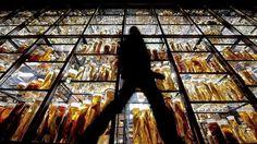 Ein Besucher geht im Berliner Naturkundemuseum an einer Vitrine entlang, in der Tierpräparate in Gläsern gezeigt werden.