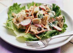 Nourishing salad with chicken recipe.