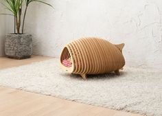 Modern Fishbone Inspired Dog House from POTE