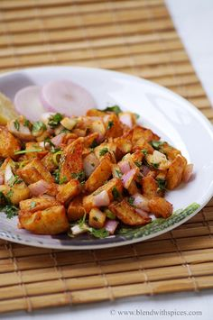 Delhi Style Fried Aloo Chaat Recipe   Indian Cuisine