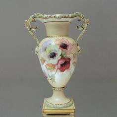 KPM Berlin: Amphorenvase im Jugendstil, Weichmalerei, Vase, Blumen, 42 cm, lage art nouveau vase, impressionist flower paintings