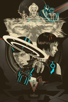 """Tron: Legacy"" by Martin Ansin, via @Mondo"