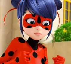 Ladybug with high pigtails. So cute!